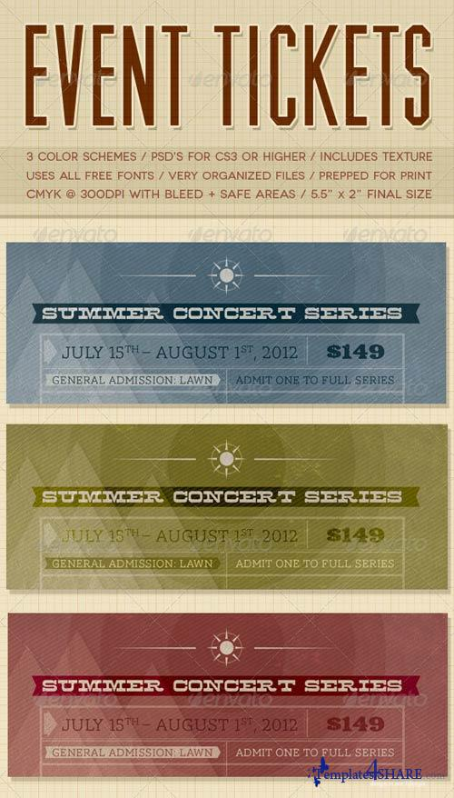 GraphicRiver Event Tickets