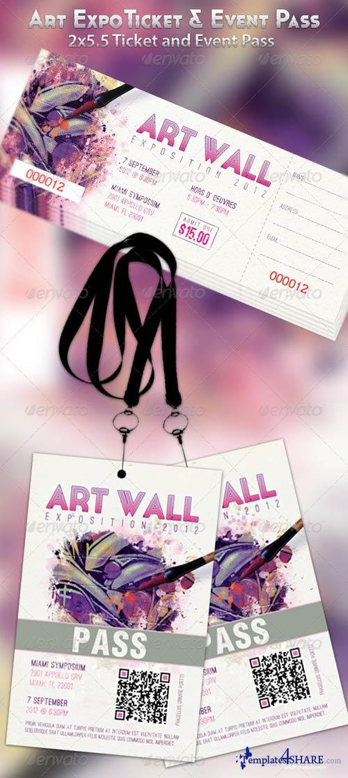 GraphicRiver Art Expo Ticket and Event Pass Template