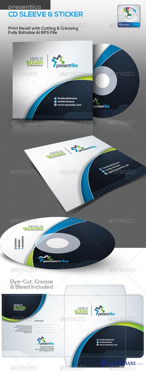 GraphicRiver Presentica CD Sleeve & Sticker
