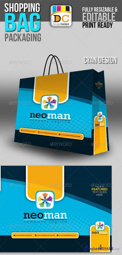 GraphicRiver Neo Man Shopping Bag Packaging