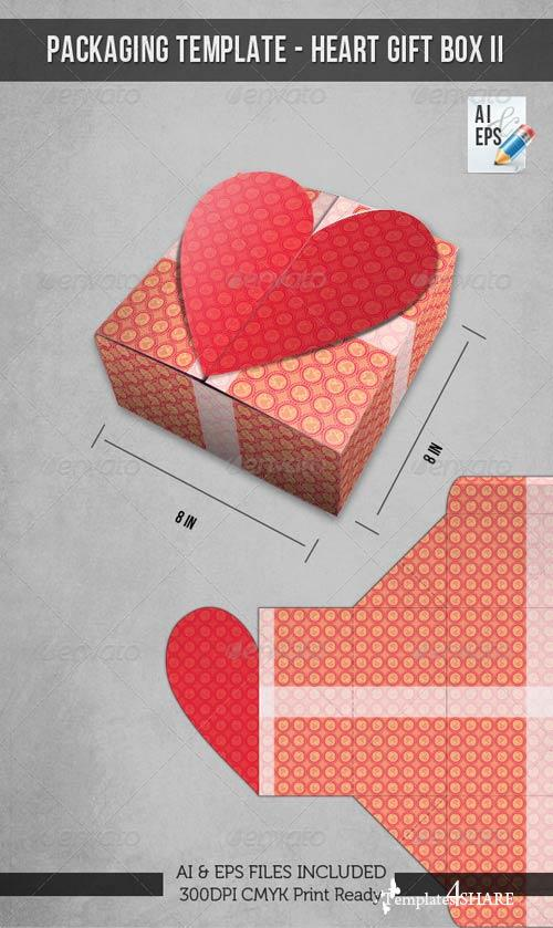 GraphicRiver Packaging Template - Heart Gift Box II