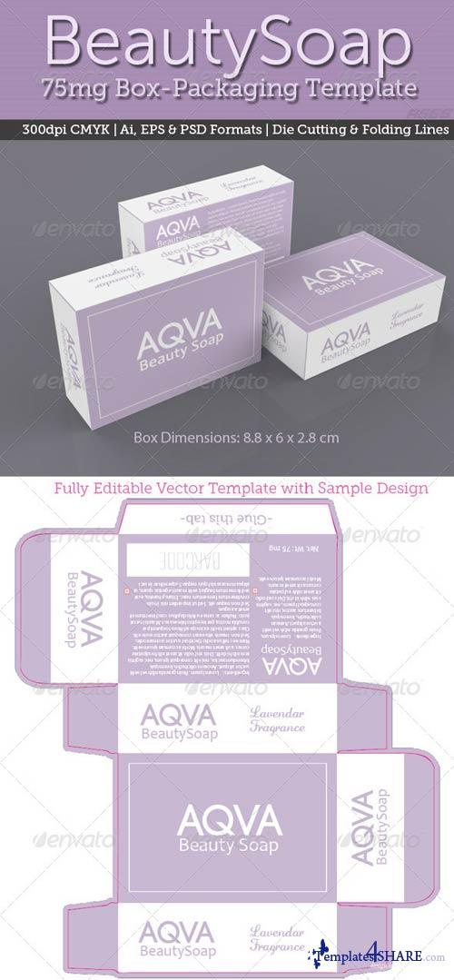GraphicRiver BeautySoap Box Packaging Template