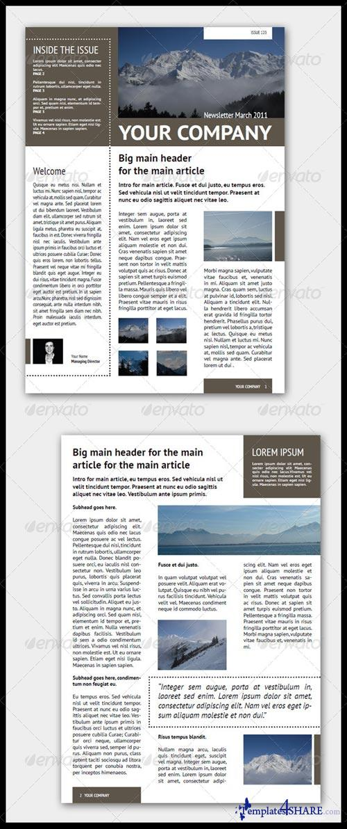 GraphicRiver Newsletter Template (4 Pages - Adjustable)