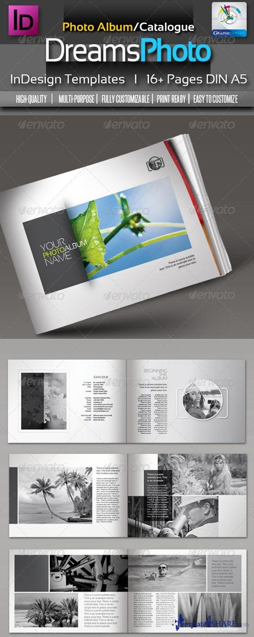 GraphicRiver Dreams Clean Photo Album InDesign Templates