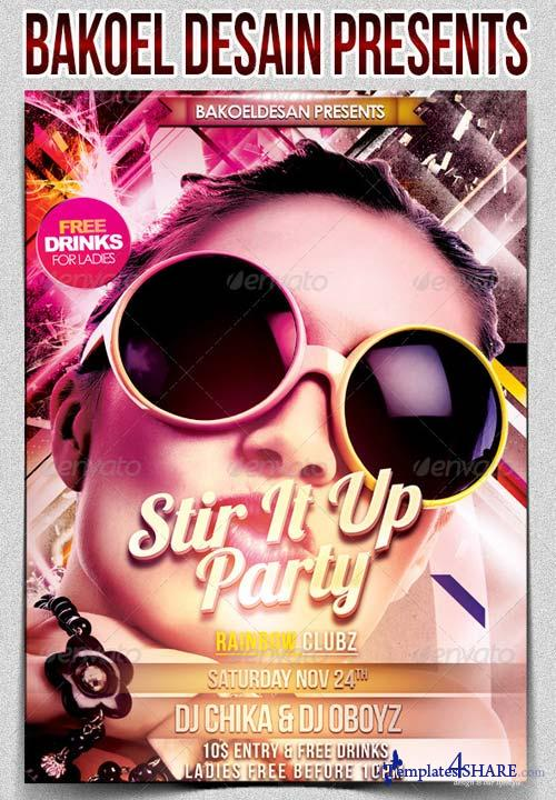 GraphicRiver Stir It Up Party Flyer