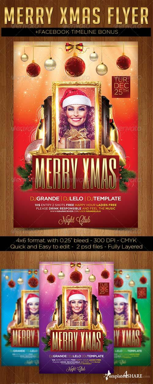 GraphicRiver Merry Xmas Flyer