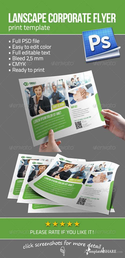 GraphicRiver Lanscape Corporate Flyer