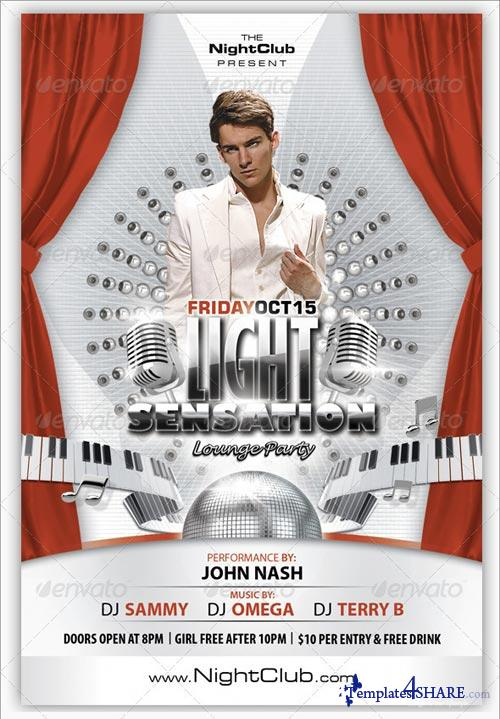 GraphicRiver Light Sensation Flyer