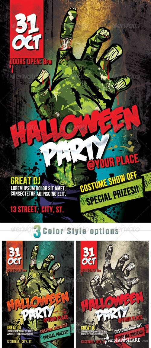 GraphicRiver Zombie Halloween Party