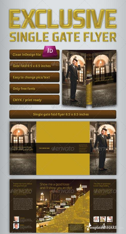 GraphicRiver Exclusive Single Gate Fold Flyer