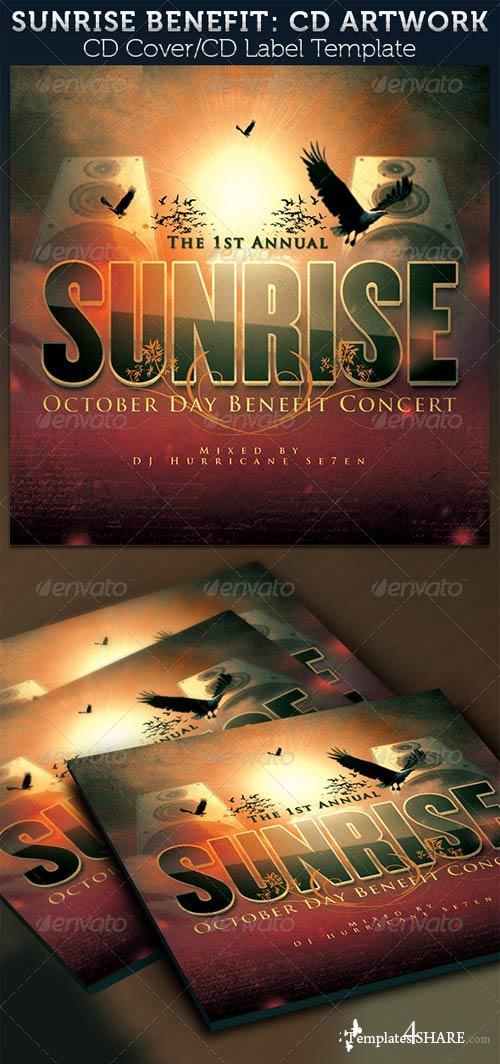 GraphicRiver Sunrise Benefit Concert: CD Cover Artwork Template