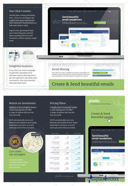 GraphicRiver Tri-fold: Email Marketing
