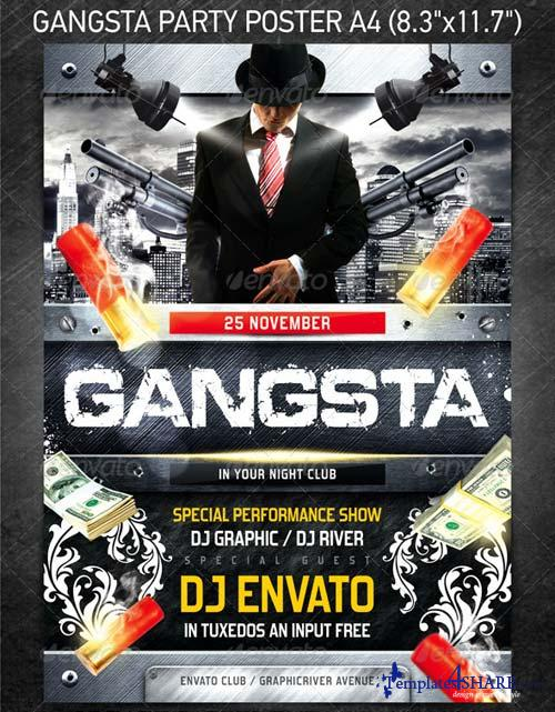 GraphicRiver Gangsta Party Poster