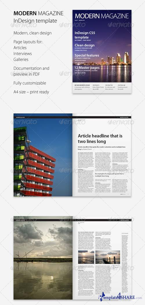 GraphicRiver Modern Magazine InDesign template