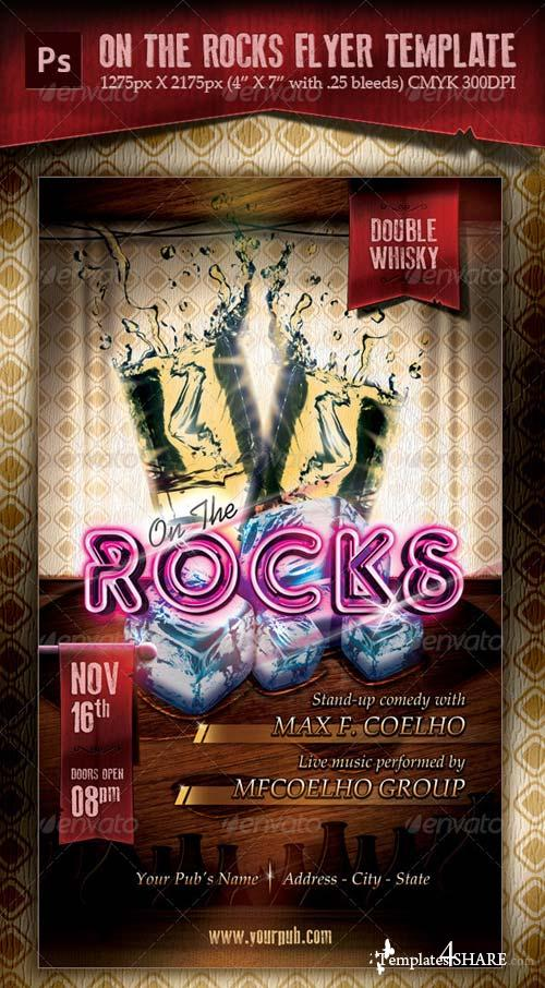 GraphicRiver On The Rocks Flyer Template