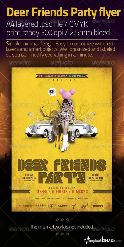 GraphicRiver Deer Friends Party Template