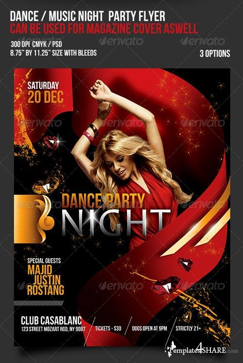 GraphicRiver Music Dance Party Night Flyer / Magazine Cover - 2