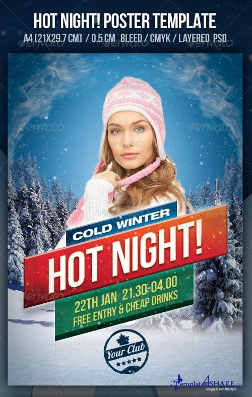 GraphicRiver Hot Night Party Design Template