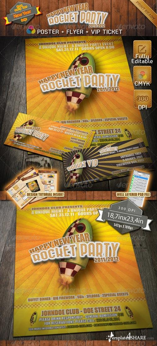 GraphicRiver PSD Rocket Party Bundle