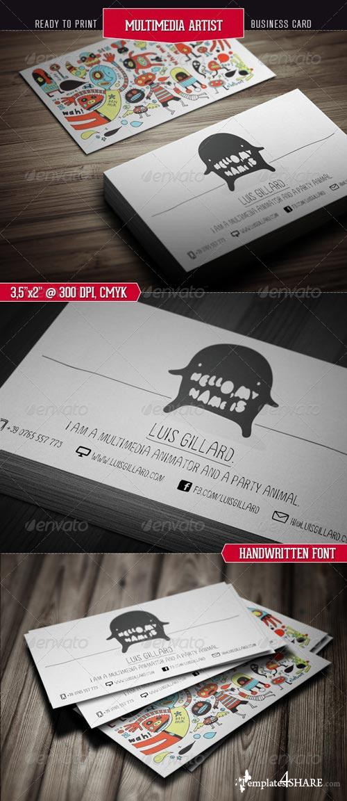 GraphicRiver Multimedia Artist Business Card