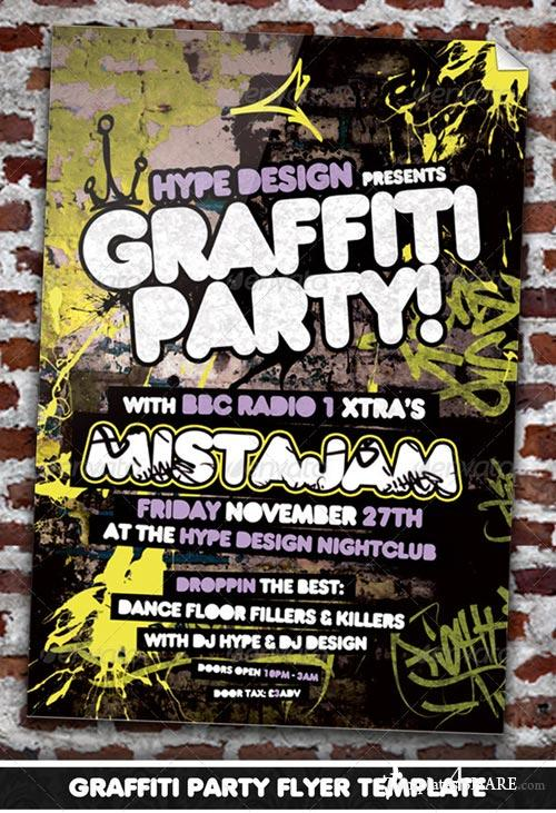 GraphicRiver Graffiti Party Flyer Template