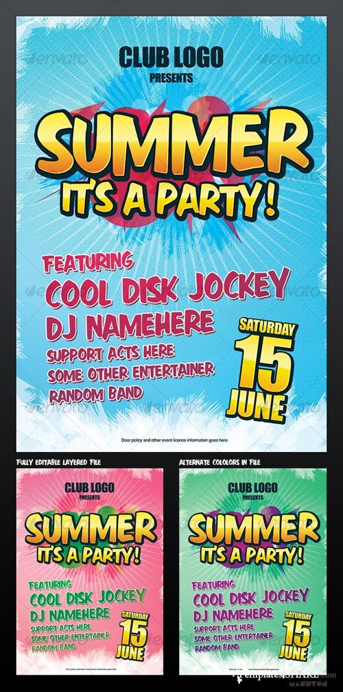GraphicRiver Summer Party / Nightclub Poster