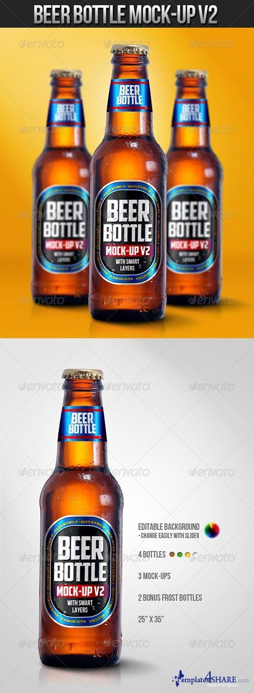 GraphicRiver Beer Bottle Mock-Up V2