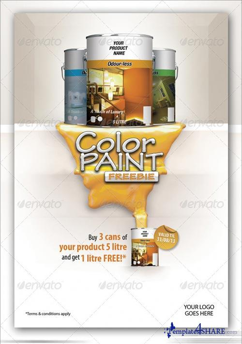 GraphicRiver Color Paint Freebie Flyer