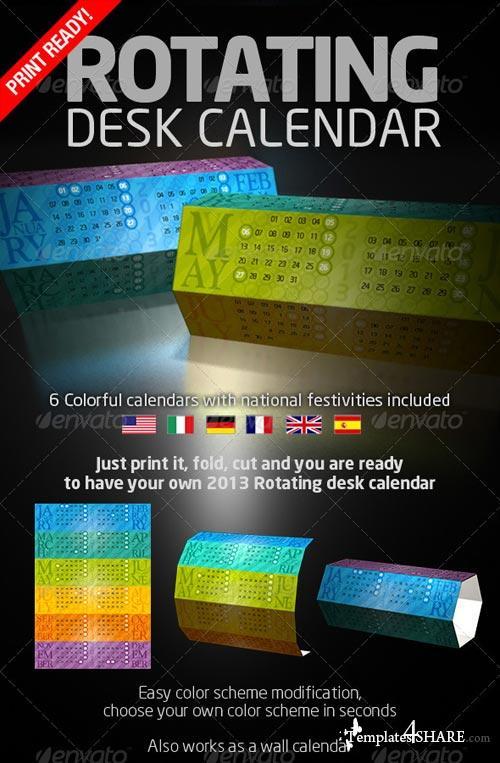GraphicRiver Rotating Desk Calendar