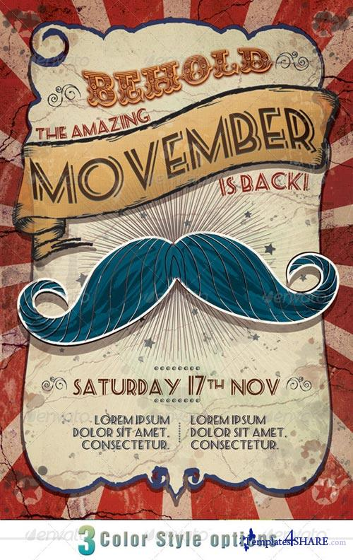 GraphicRiver Movember Circus