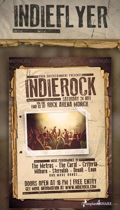 GraphicRiver Indie Rock Festival Flyer