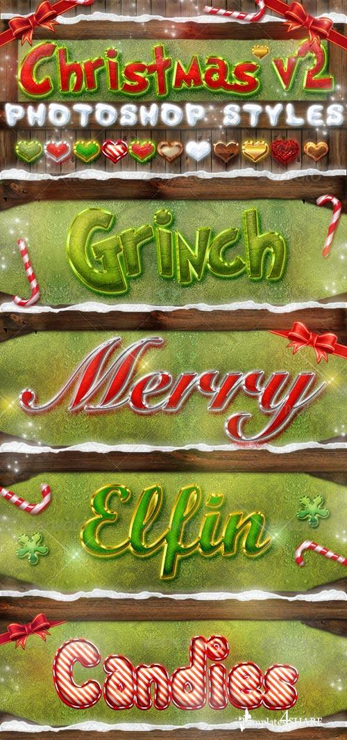 GraphicRiver Christmas Photoshop Styles V2