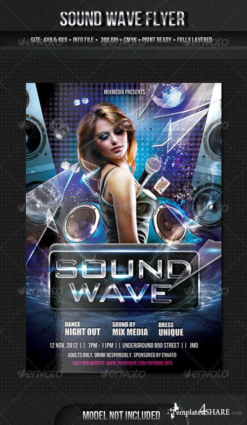 GraphicRiver Sound Wave Flyer Template