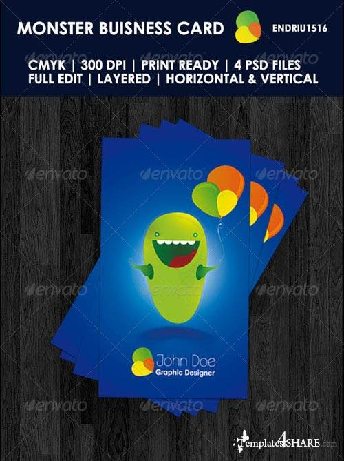 GraphicRiver Monster Buisness Card
