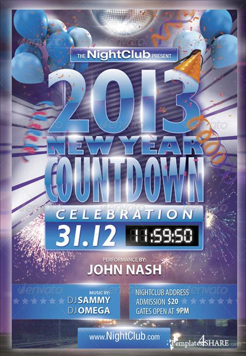 GraphicRiver 2013 New Year Countdown Party Flyer