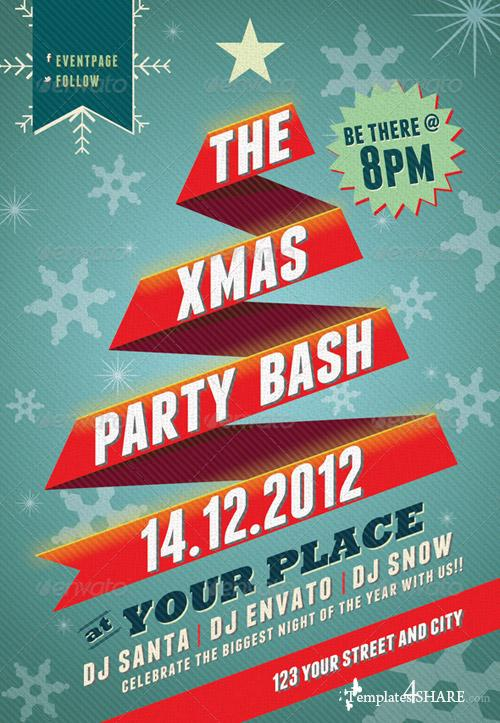 GraphicRiver Xmas Party Bash PSD Flyer