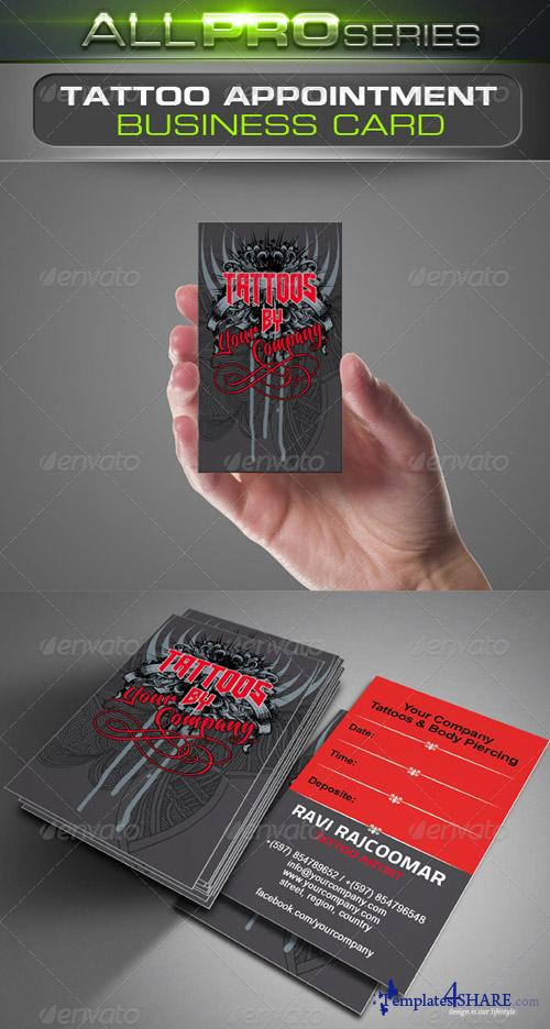 GraphicRiver Tattoo Business Card