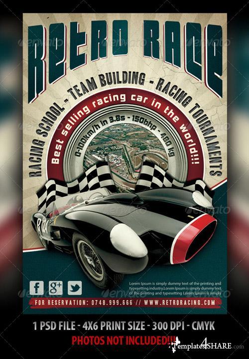 GraphicRiver Auto Retro Flyer