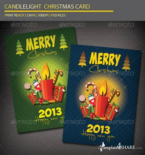 GraphicRiver Candlelight Christmas Card