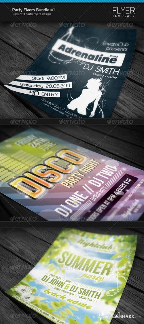 GraphicRiver Party Flyers Bundle #1
