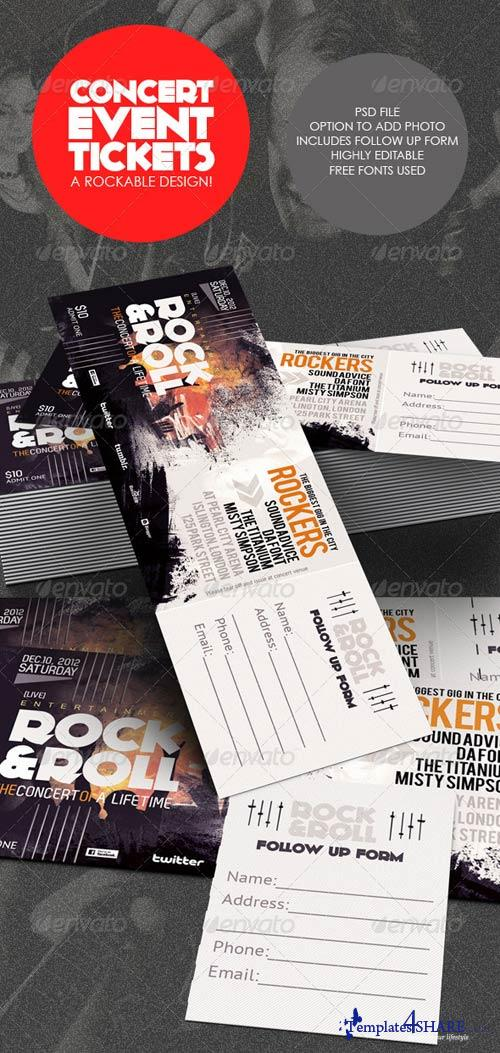 GraphicRiver Concert & Event Tickets/Passes