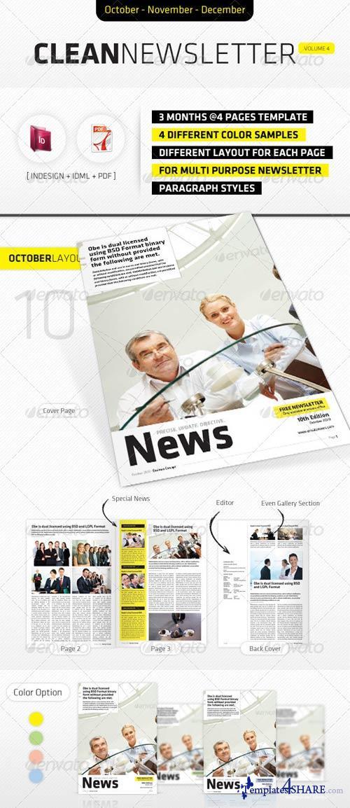 GraphicRiver October - December Clean Newsletter V4