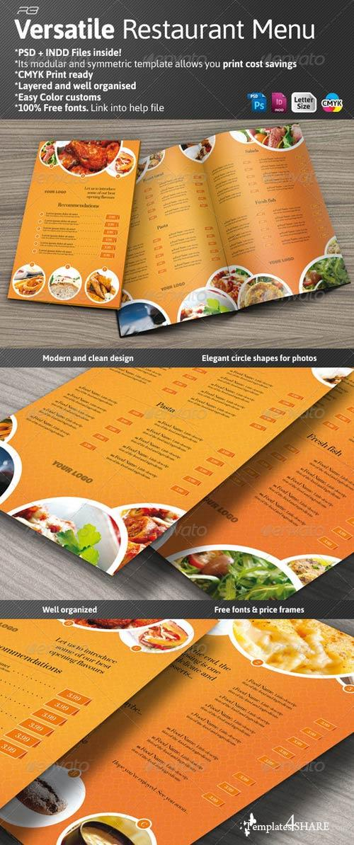 GraphicRiver Versatile Restaurant Menu