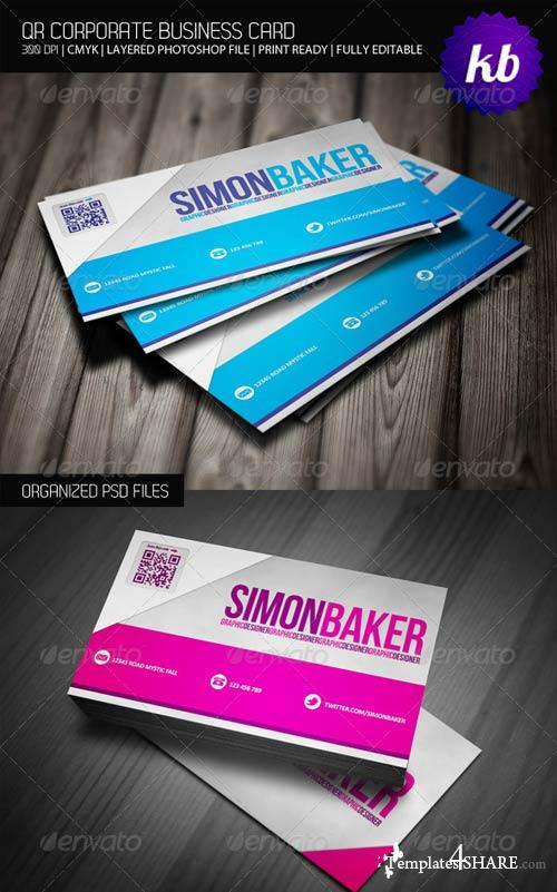 GraphicRiver Qr Corporate Business Card