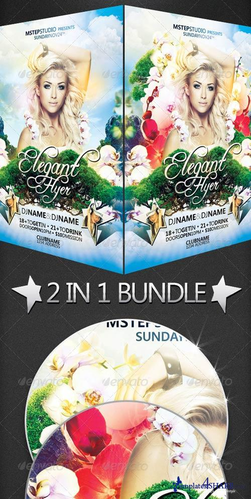 GraphicRiver Elegant Flyer Bundle: 2 in 1