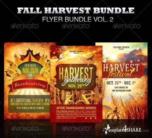 GraphicRiver Fall Harvest Flyer Template Bundle