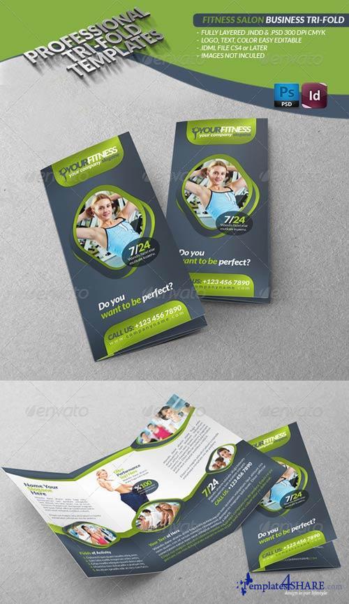 GraphicRiver Fitness Salon Business Tri-Fold