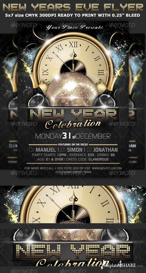GraphicRiver New Years Eve Party Flyer Template