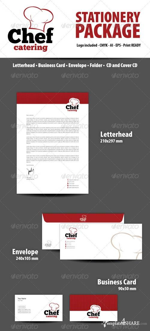 GraphicRiver Chef Catering Stationery Package