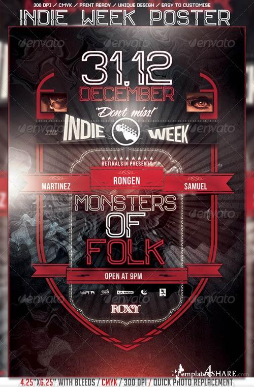 GraphicRiver Indie Week Poster/Flyer Template